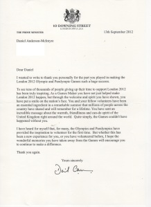 PM Thank You Letter